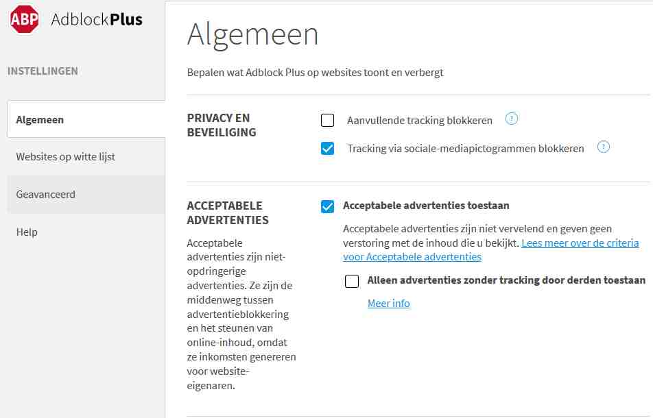 AdblockPlus advertenties blokkeren